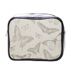 Butterfly Background Vintage Mini Toiletries Bags