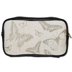 Butterfly Background Vintage Toiletries Bags