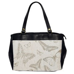 Butterfly Background Vintage Office Handbags (2 Sides)