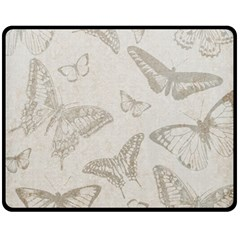 Butterfly Background Vintage Fleece Blanket (Medium)