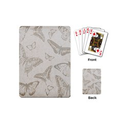 Butterfly Background Vintage Playing Cards (Mini)