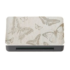 Butterfly Background Vintage Memory Card Reader with CF