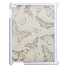 Butterfly Background Vintage Apple iPad 2 Case (White)