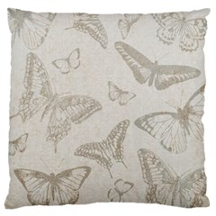 Butterfly Background Vintage Large Cushion Case (One Side)