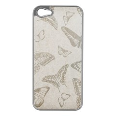 Butterfly Background Vintage Apple Iphone 5 Case (silver)