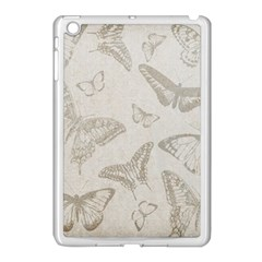 Butterfly Background Vintage Apple iPad Mini Case (White)