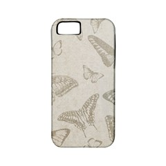 Butterfly Background Vintage Apple iPhone 5 Classic Hardshell Case (PC+Silicone)