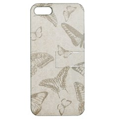 Butterfly Background Vintage Apple Iphone 5 Hardshell Case With Stand