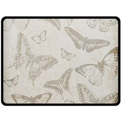 Butterfly Background Vintage Double Sided Fleece Blanket (large)