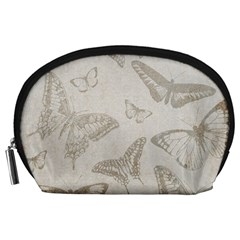 Butterfly Background Vintage Accessory Pouches (Large)
