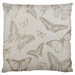 Butterfly Background Vintage Large Flano Cushion Case (two Sides)