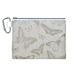 Butterfly Background Vintage Canvas Cosmetic Bag (L)