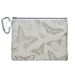 Butterfly Background Vintage Canvas Cosmetic Bag (XL)