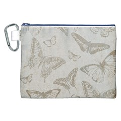 Butterfly Background Vintage Canvas Cosmetic Bag (XXL)