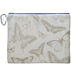 Butterfly Background Vintage Canvas Cosmetic Bag (XXXL)
