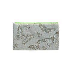 Butterfly Background Vintage Cosmetic Bag (xs)