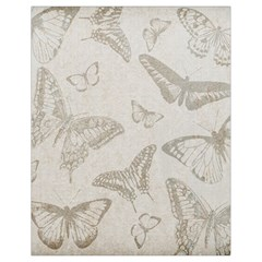 Butterfly Background Vintage Drawstring Bag (Small)