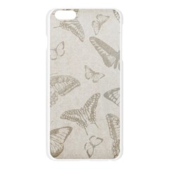 Butterfly Background Vintage Apple Seamless iPhone 6 Plus/6S Plus Case (Transparent)