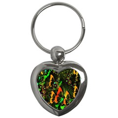 Butterfly Abstract Flowers Key Chains (Heart)