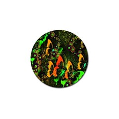Butterfly Abstract Flowers Golf Ball Marker (10 Pack)