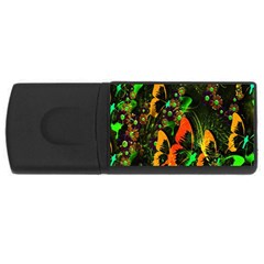 Butterfly Abstract Flowers USB Flash Drive Rectangular (1 GB)