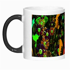 Butterfly Abstract Flowers Morph Mugs