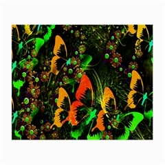 Butterfly Abstract Flowers Small Glasses Cloth