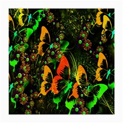 Butterfly Abstract Flowers Medium Glasses Cloth (2-Side)