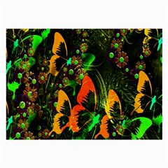 Butterfly Abstract Flowers Large Glasses Cloth (2-Side)