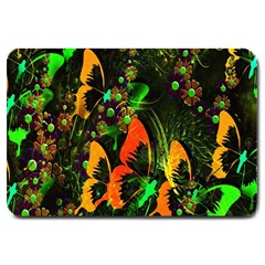 Butterfly Abstract Flowers Large Doormat