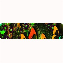 Butterfly Abstract Flowers Large Bar Mats