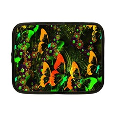 Butterfly Abstract Flowers Netbook Case (Small)