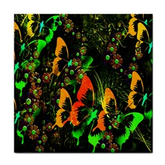 Butterfly Abstract Flowers Face Towel