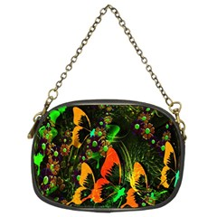 Butterfly Abstract Flowers Chain Purses (Two Sides)