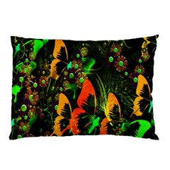 Butterfly Abstract Flowers Pillow Case