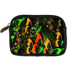 Butterfly Abstract Flowers Digital Camera Cases