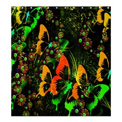 Butterfly Abstract Flowers Shower Curtain 66  x 72  (Large)