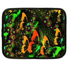 Butterfly Abstract Flowers Netbook Case (XL)