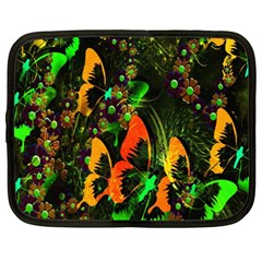 Butterfly Abstract Flowers Netbook Case (XXL)