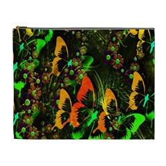 Butterfly Abstract Flowers Cosmetic Bag (XL)