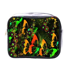 Butterfly Abstract Flowers Mini Toiletries Bags