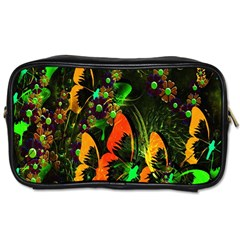 Butterfly Abstract Flowers Toiletries Bags