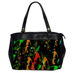 Butterfly Abstract Flowers Office Handbags