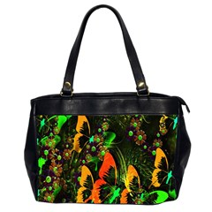 Butterfly Abstract Flowers Office Handbags (2 Sides)