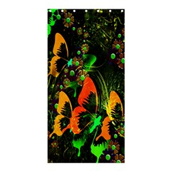 Butterfly Abstract Flowers Shower Curtain 36  x 72  (Stall)
