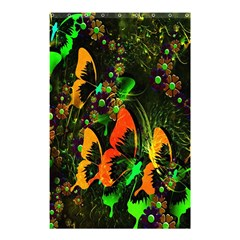 Butterfly Abstract Flowers Shower Curtain 48  x 72  (Small)