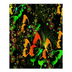 Butterfly Abstract Flowers Shower Curtain 60  x 72  (Medium)