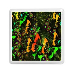 Butterfly Abstract Flowers Memory Card Reader (Square)