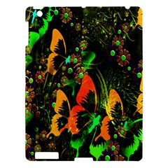 Butterfly Abstract Flowers Apple iPad 3/4 Hardshell Case