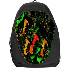 Butterfly Abstract Flowers Backpack Bag